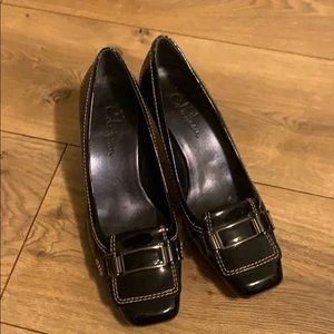 Cole Haan black paten leather shoes